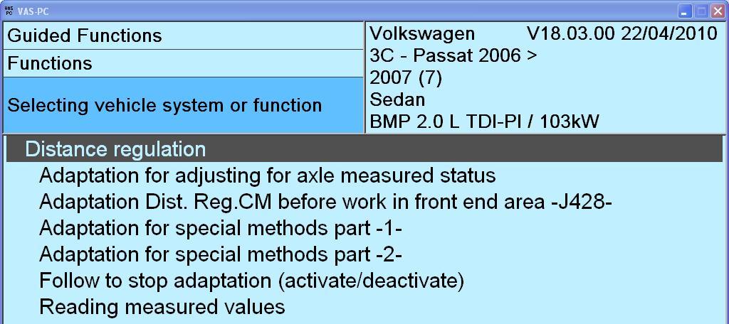 Adaptive Cruise Control retrofitted in Passat B6 - VW Forum