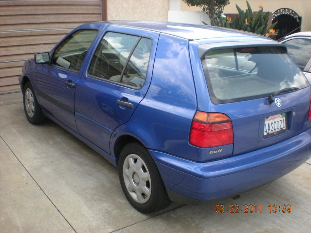 $4,000 OBO, 98 Volkswagen Golf GL, 4 door, hatch, 2.0L ...